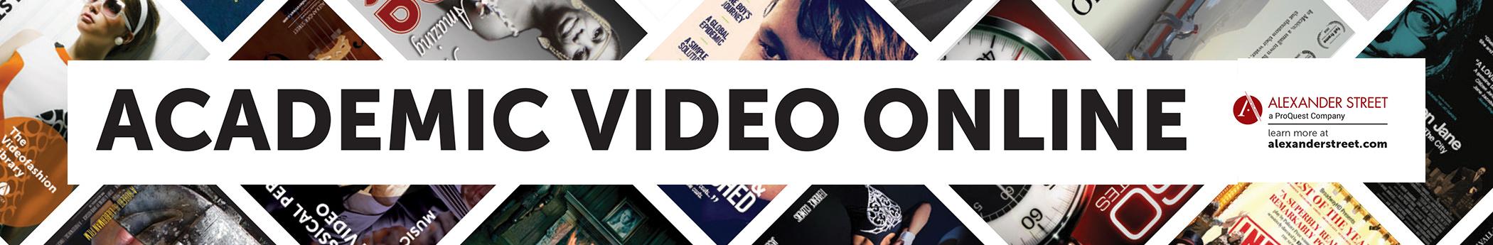 Academic Video Online: Alexander Street, A ProQuest Company