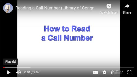 How to Read a Call Number Video