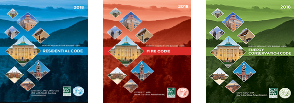 Book Covers: 2018 North Carolina State Building Codes