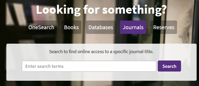 onesearch journals tab