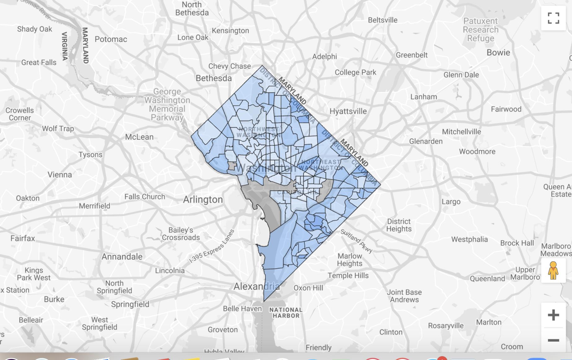 initial DC map