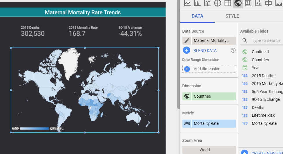 mortality heatmap