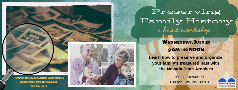 preserving family history workshop banner
