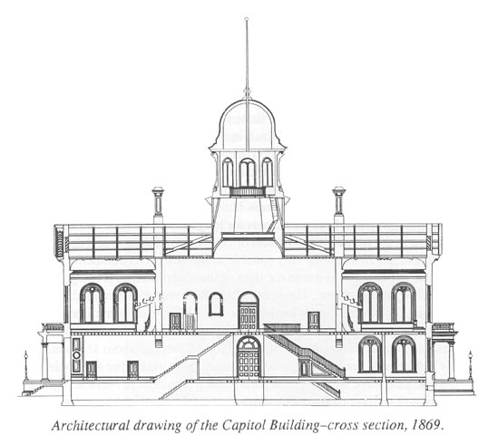 Architectual drawing of the State Capital, 1869