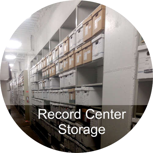 A button link to the Record Center Storage