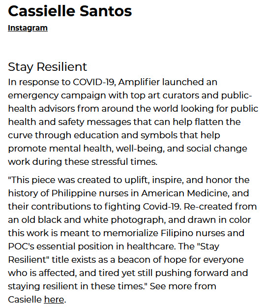 Stay Resilient by Artist Casielle Santos
