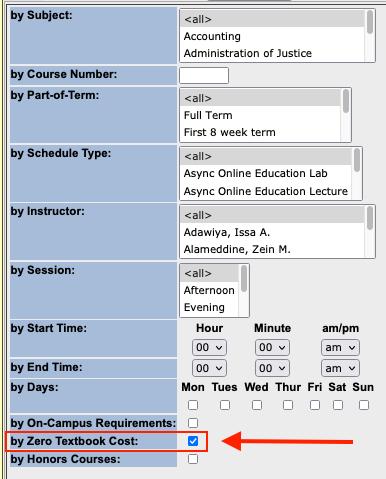 Screenshot of checking ZTC box