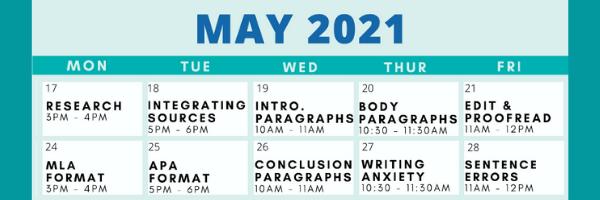 Writing Center workshops