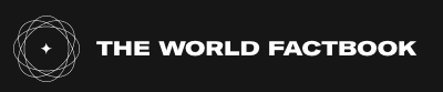 World Fact Book Logo, black background and white words