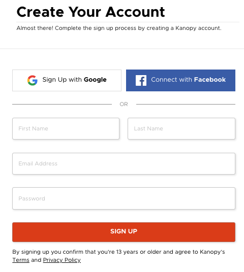 Create Your Kanopy Account