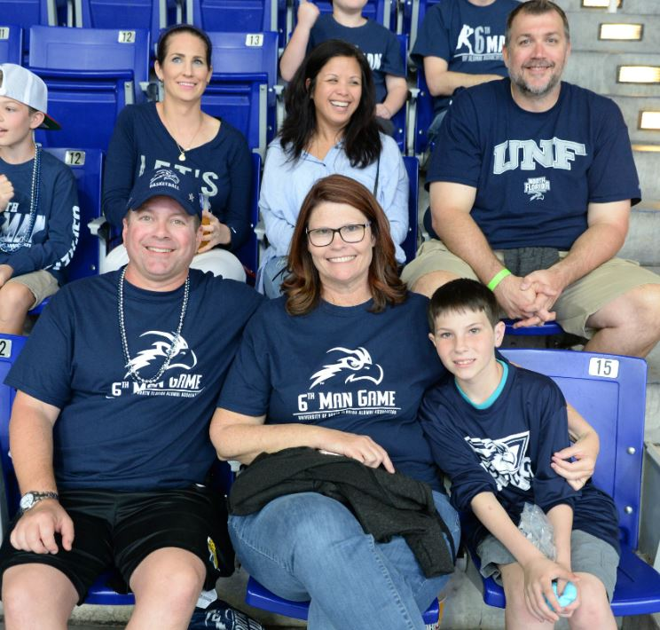 Group at UNF sports event