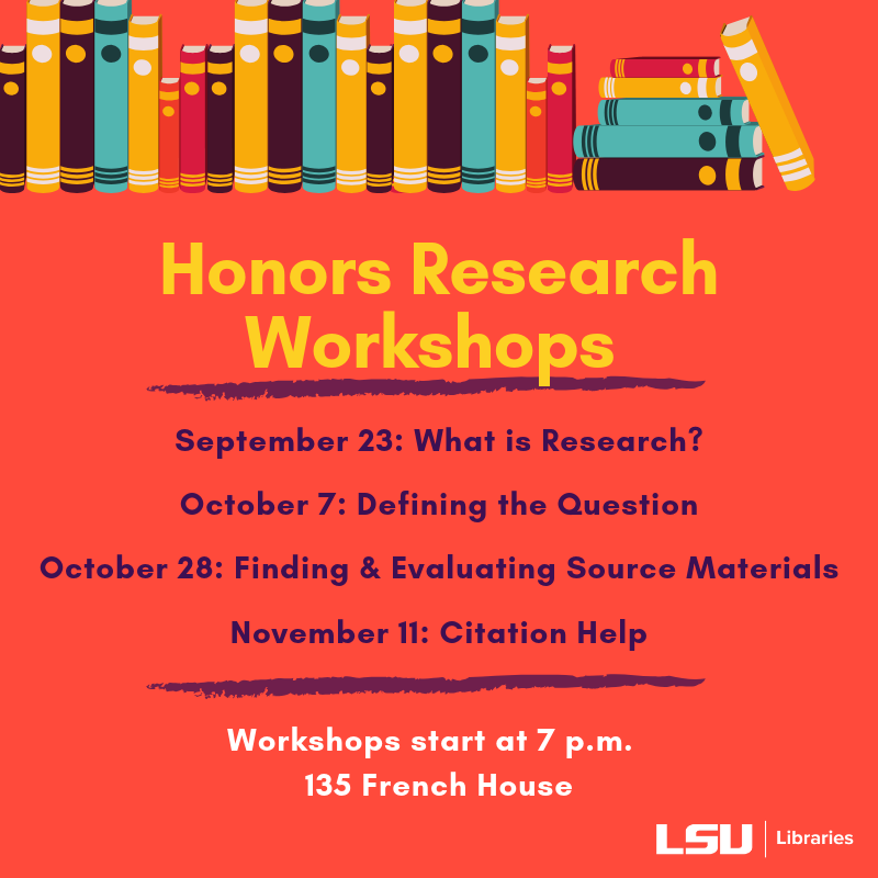 Honors Research Workshops