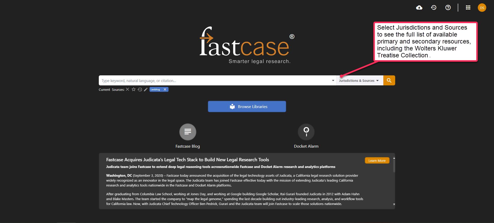Fastcase screenshot