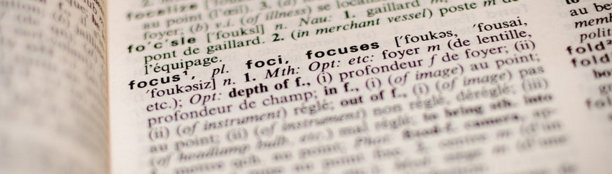 the word focus in dictionary
