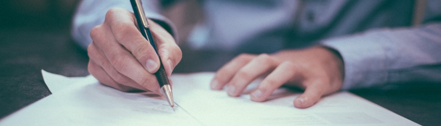 picture of hand writing