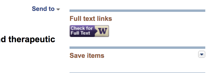 PubMed UW Full Text Icons