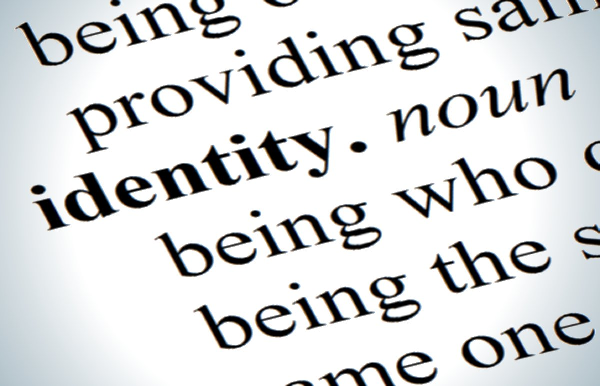 Picture of dictionary definition of identity