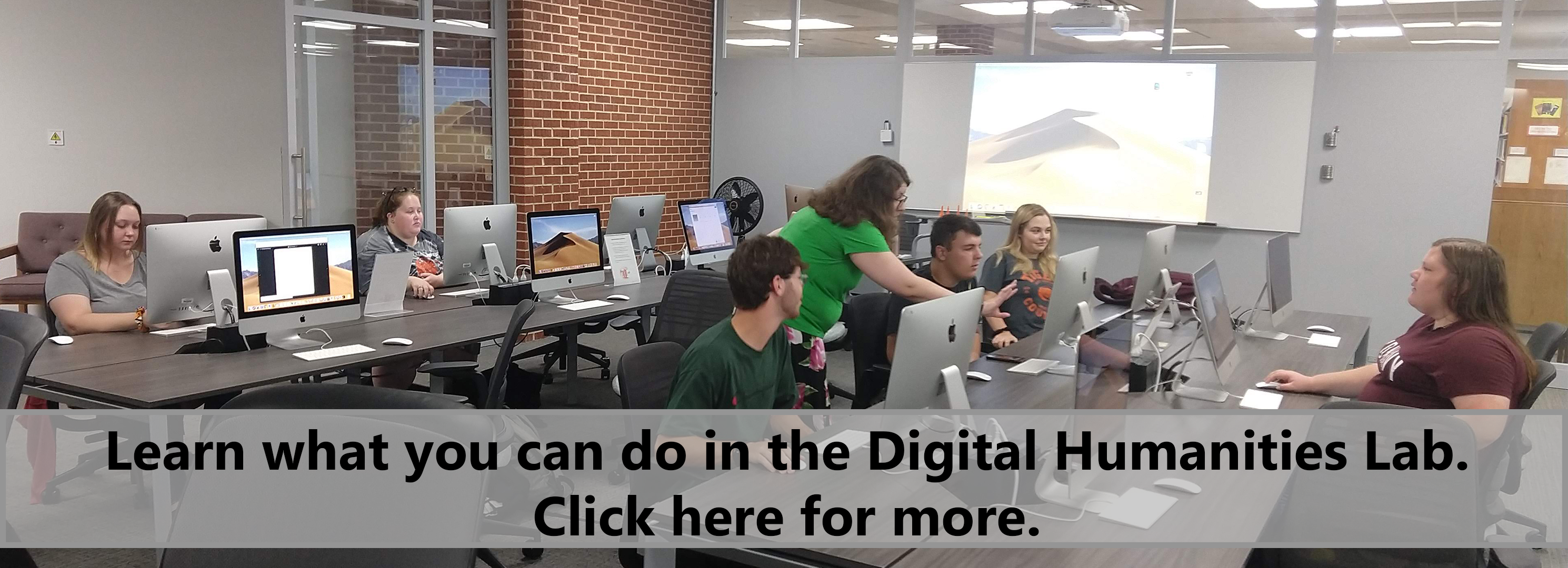 Learn what you can do in the digital humanities lab. Click here for more.