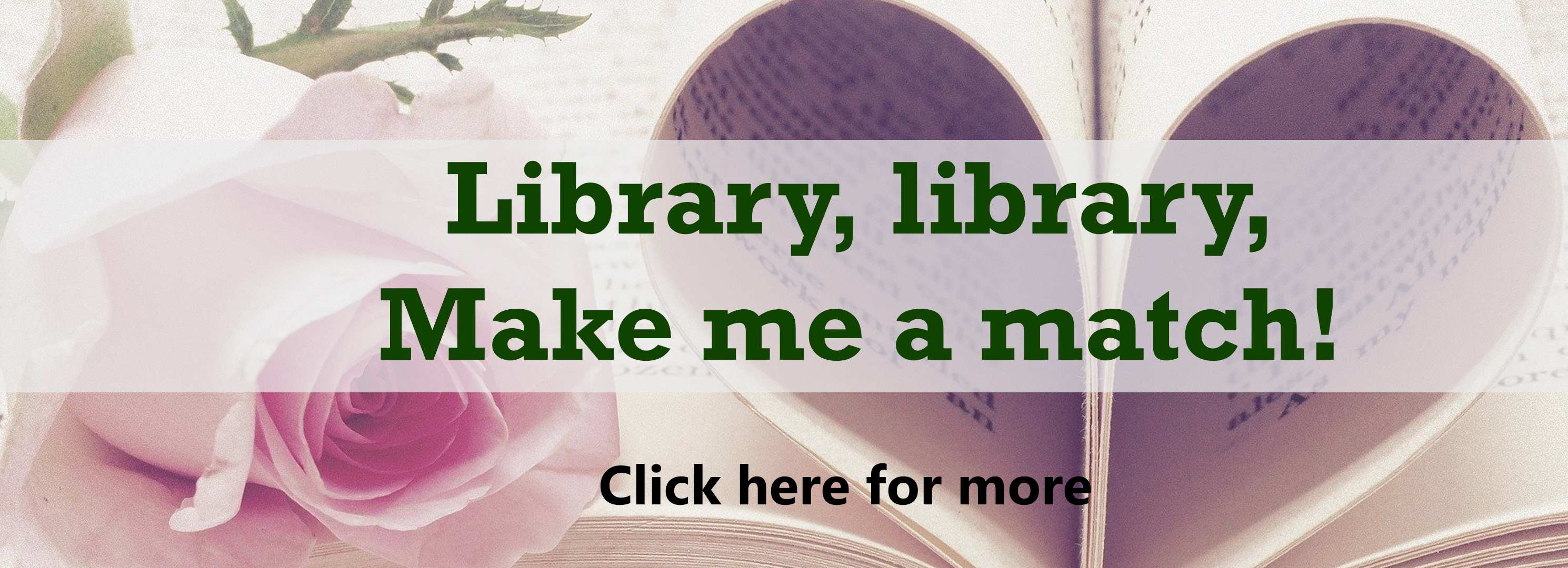 Library, library, make me a match click here for more