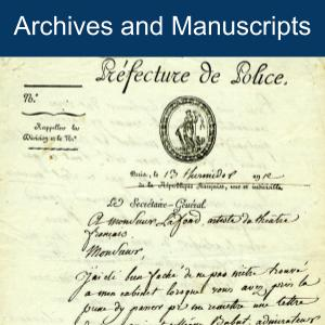 click for archives and manuscripts