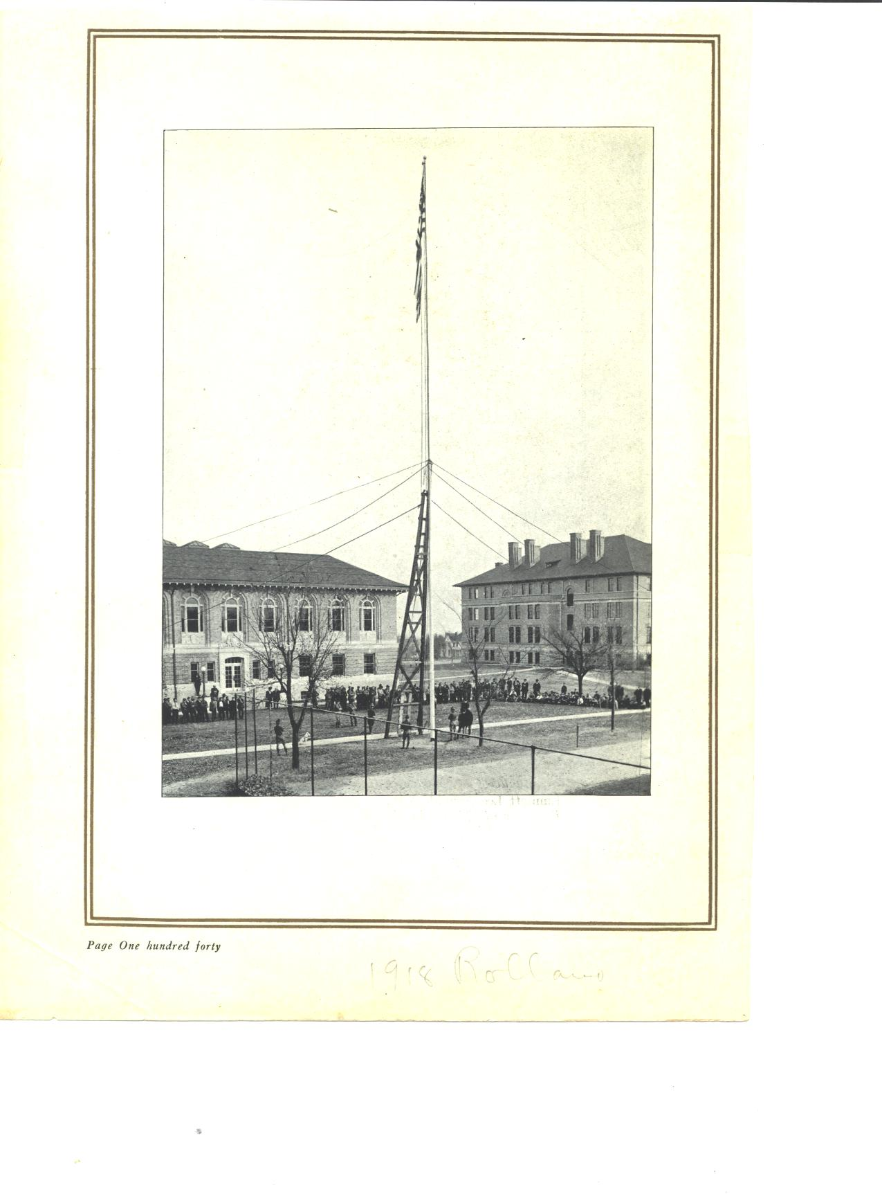 1917 flagpole on MSM campus