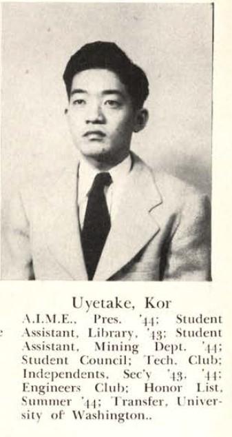 Kor Uyetake, Rollamo 1945
