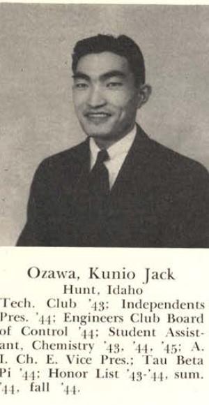 Kunio Jack Ozawa, Rollamo 1945