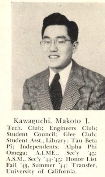 Makoto Kawaguchi, 1945 Rollamo