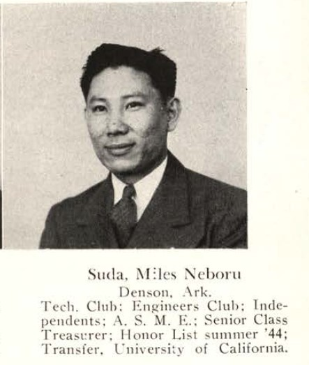 Miles Noboru Suda, Rollamo 1945