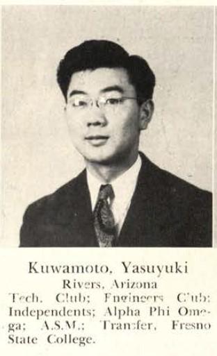 Yasuyuki Kuwamoto, Rollamo 1945