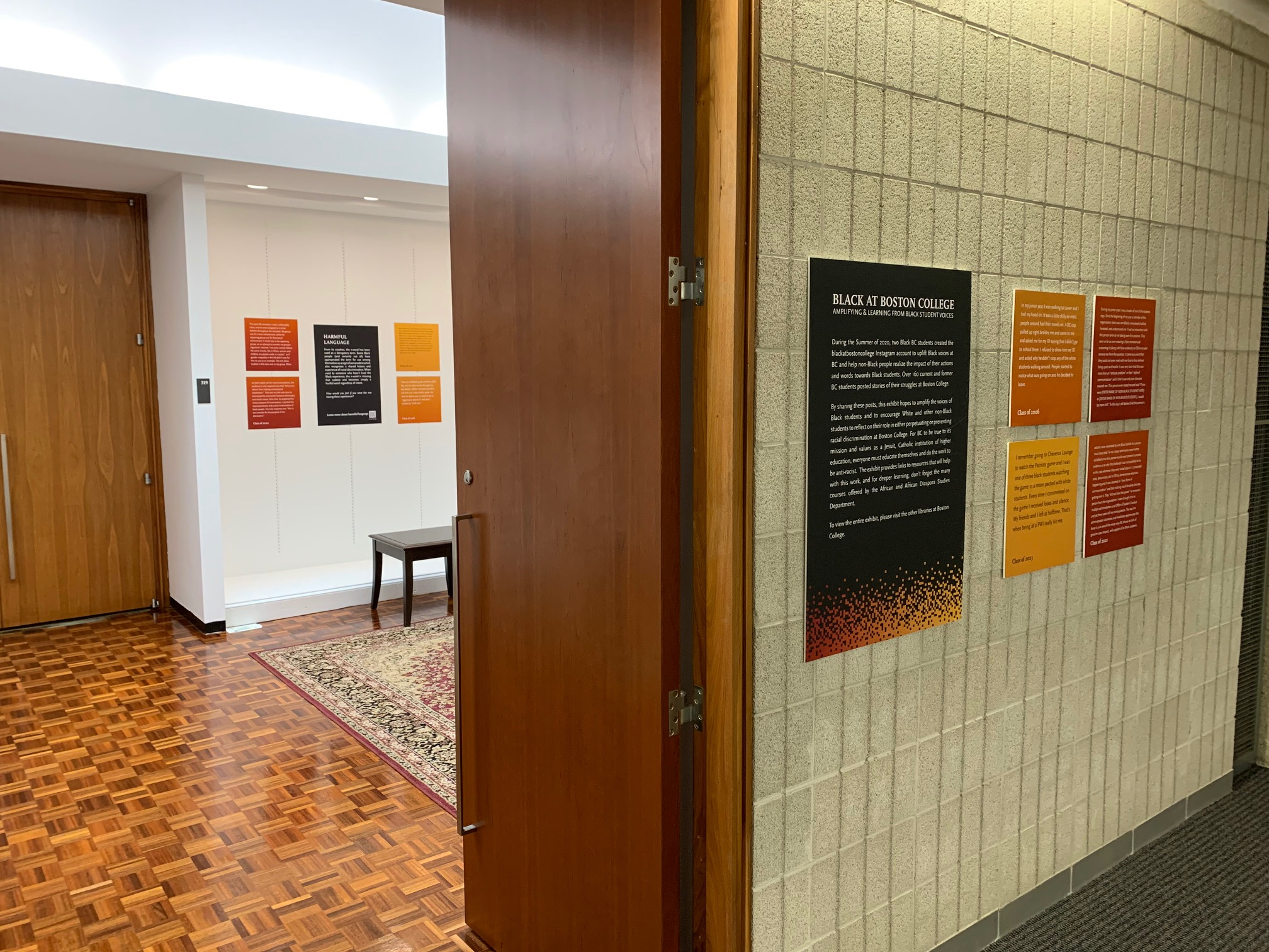 Theology and Ministry Library installation