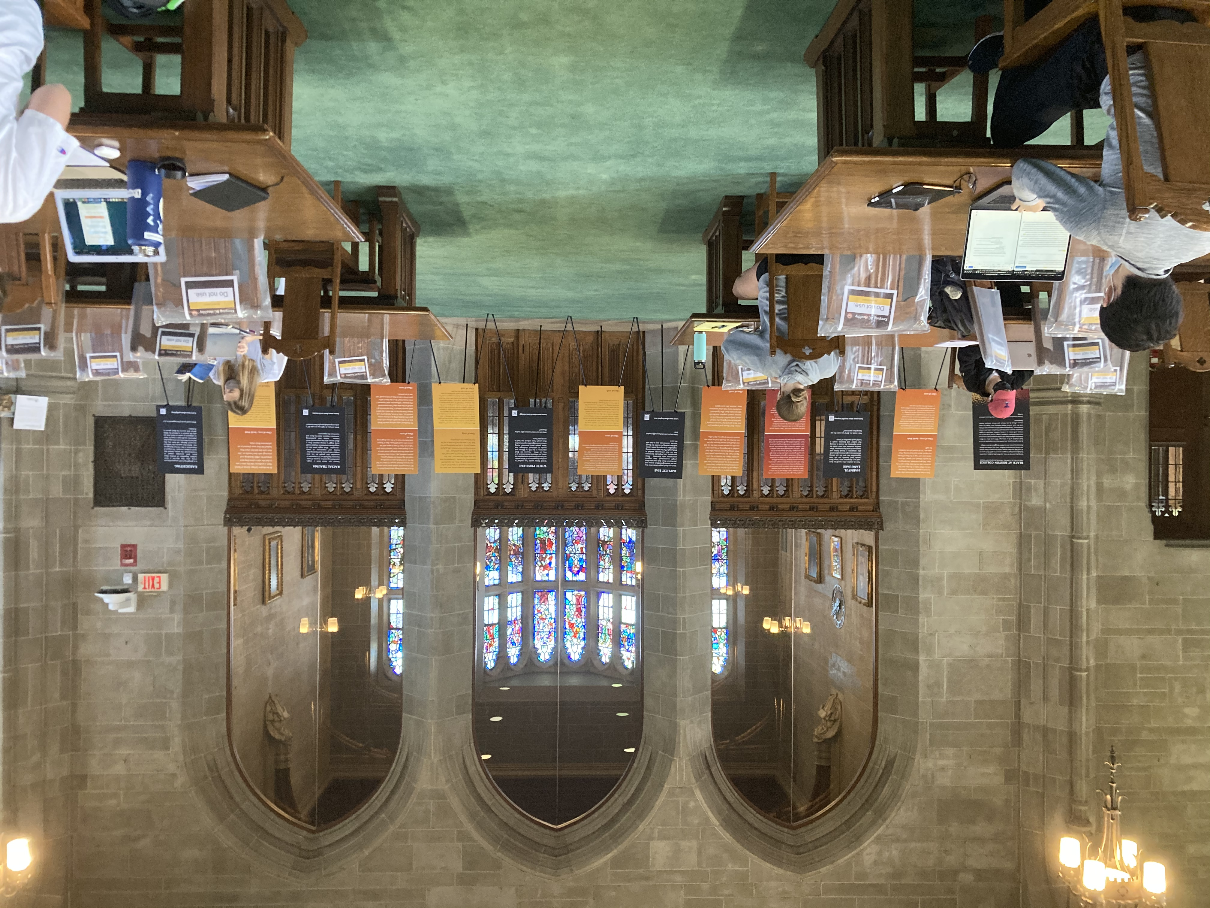 Bapst Library installation