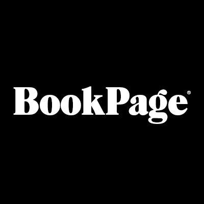 BookPage logo: white type in a black square