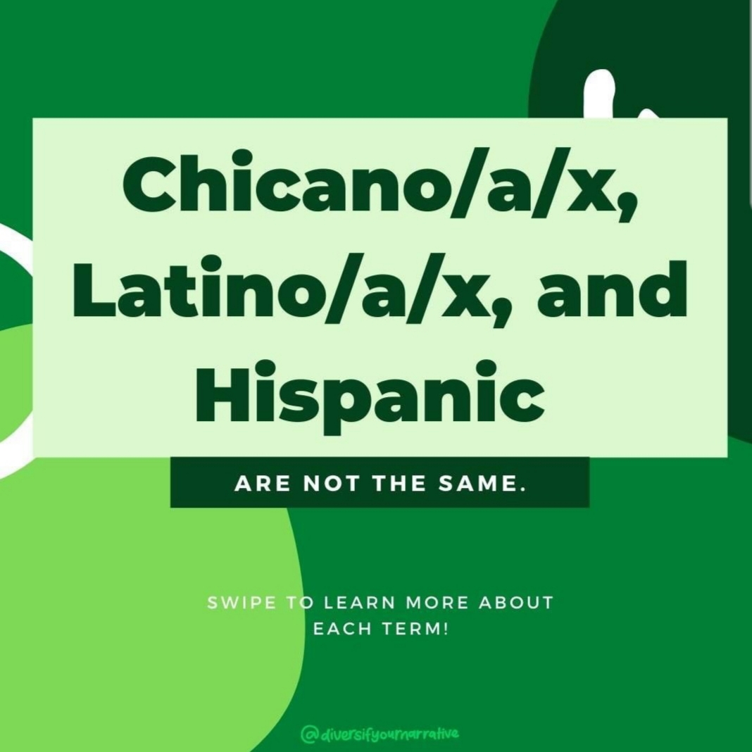 Chicano/a/x, Latino/a/x, and Hispanic are not the same. Swipe to learn more about each term! @diversifyournarrative