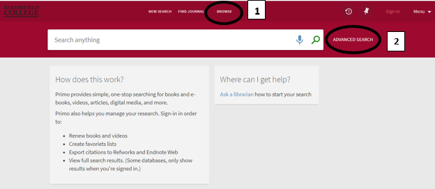 OneSearch browse search