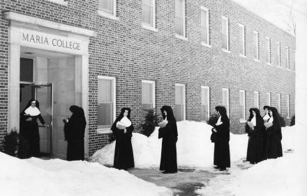 Maria College's first students