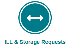 Picture of ILL & Storage Requests button