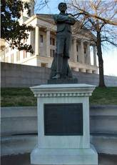 A photograph of a statue from the UDC website
