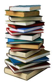 decorative image:  stack of print books