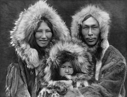 Inupiat family from Noatak, Alaska