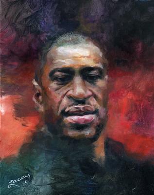 Painting of George Floyd