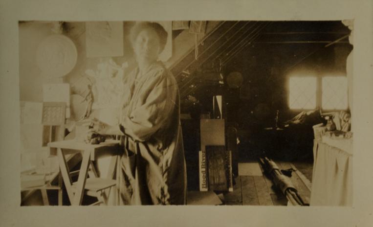 Photo of Meta Warrick Fuller in her studio