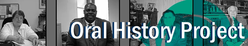 Oral History banner linking to website