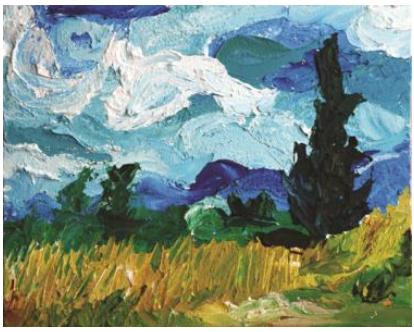 Art Splash Painting: Vincent Van Gogh Impasto Doodle