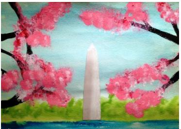 Art Splash Painting: Washington, DC Doodle