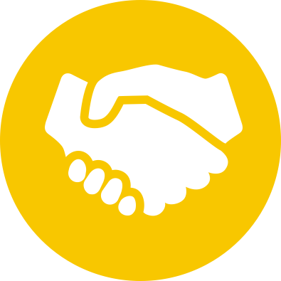 Shaking hands image to indicate a deal
