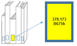 Book spines showing call number
