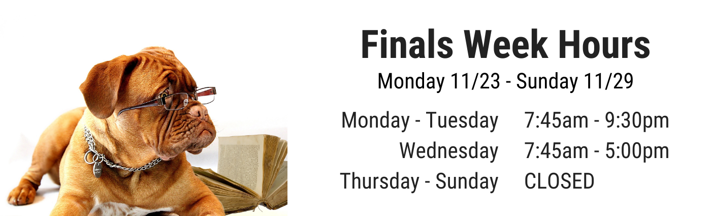 Finals Week Hours