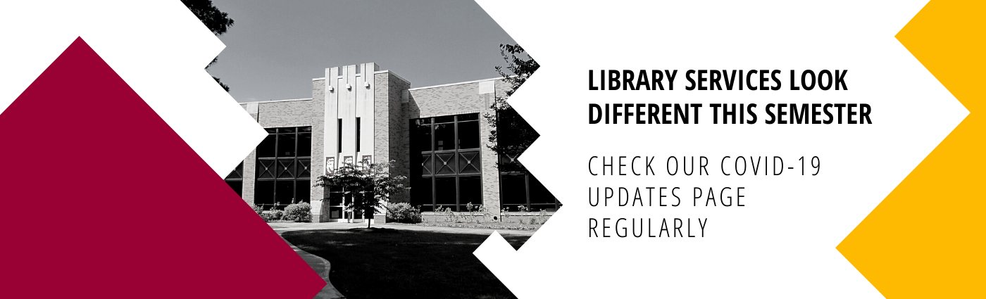 Link to the library's COVID-19 Updates page.