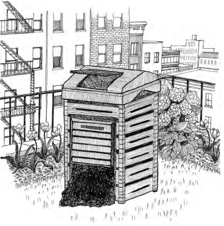Drawing of compost bin